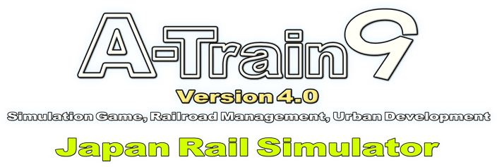 A-Train 9 Version 4.0 Simulation Game, Railroad Management, Urban Development Japan Rail Simulator