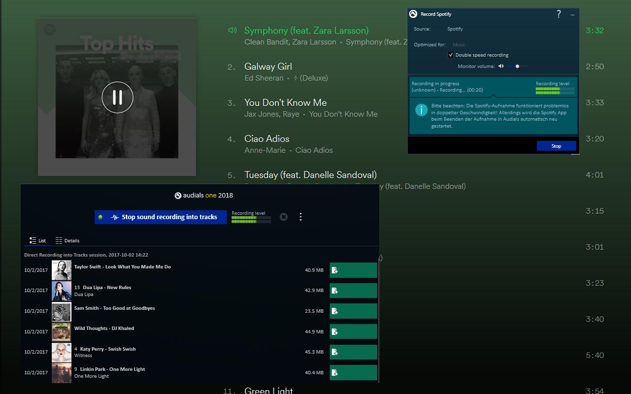 Spotify を 2 倍速で録音できるのは、Audials だけです!