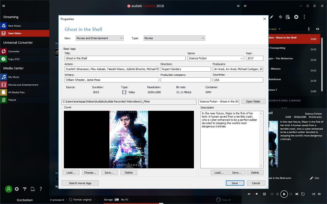 動画の自動タグ付けと、手動編集