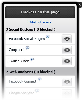 trackers on page