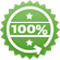 100% Money-Back Guarantee icon, green