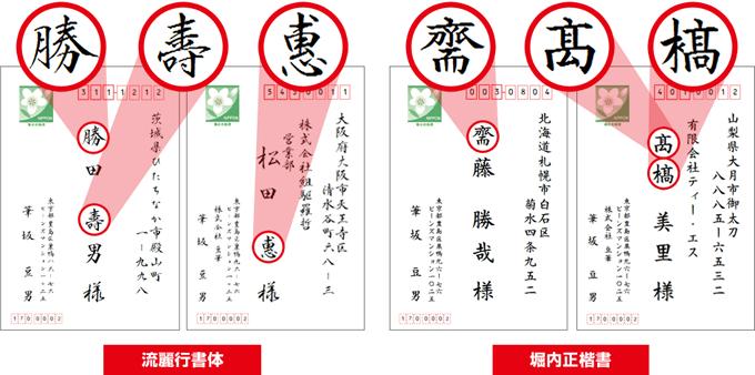 顧客の名前を正しい漢字で表示・印刷 人名外字2書体1390文字
