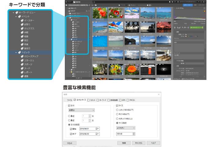 写真管理・検索機能