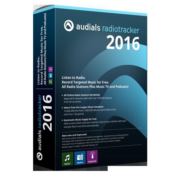 Audials Radiotracker 2016 (ダウンロード版)
