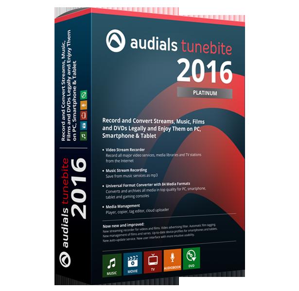 Audials Tunebite 2016 (ダウンロード版)