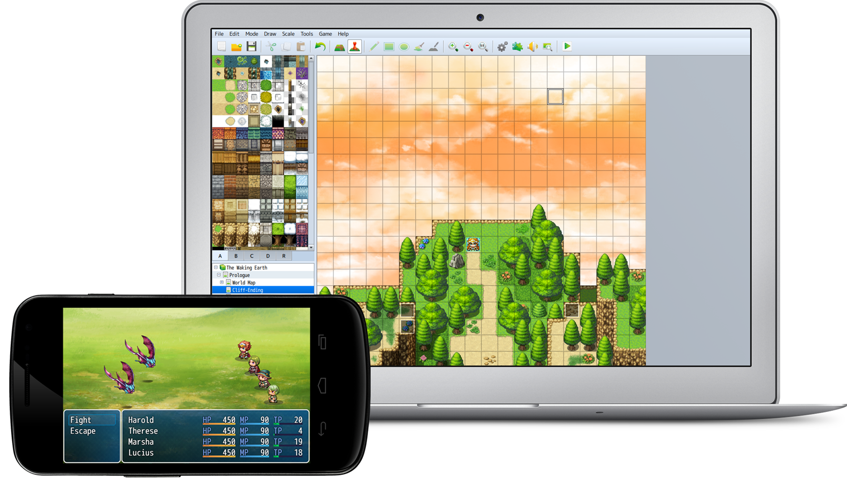 Rpg maker mv rpg maker make your own video games for Windows distribution