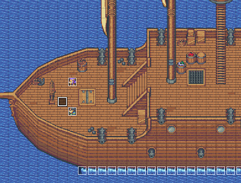 Indoor Vehicle Storage >> Time Fantasy: Ship| RPG Maker | Create Your Own Game!