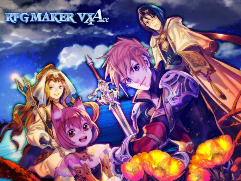 RPG Maker VX Ace Wallpaper Sample With Logo