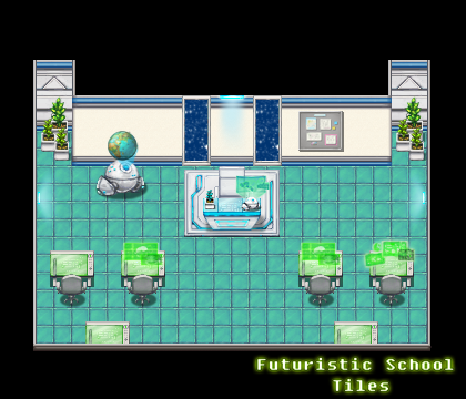 Futuristic School Tiles | Create Your Own Game!