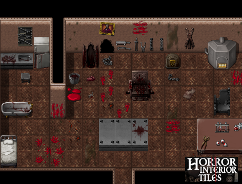 Frontier Works Horror Interior Tiles Create Your Own Game