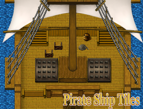 Pirate Ship Tile Pack | Create Your Own Game!