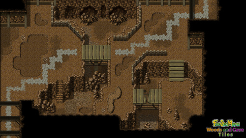 Fsm Woods And Cave Tiles Rpg Maker Create Your Own Game