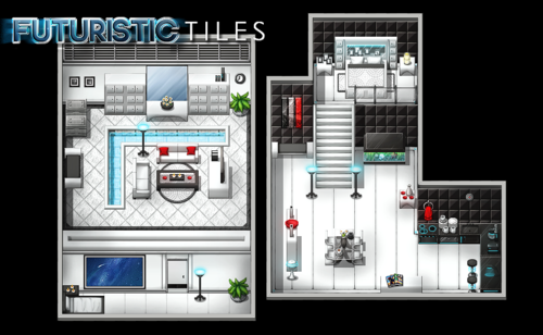 Futuristic Tiles Resource Pack | Make Your Own Video Game!