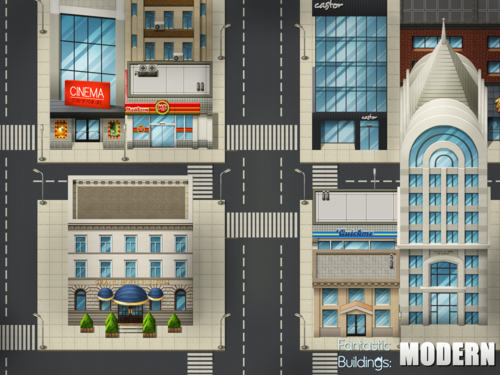Fantastic Buildings Modern Rpg Maker Create Your Own Game