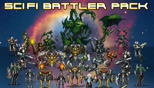 Sci-Fi Battler Pack | Create Your Own Game!