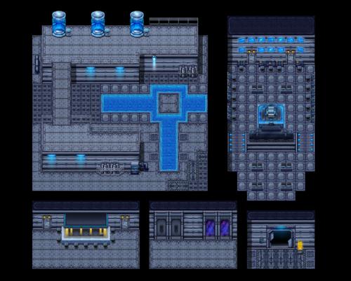 Rpg maker space tile set