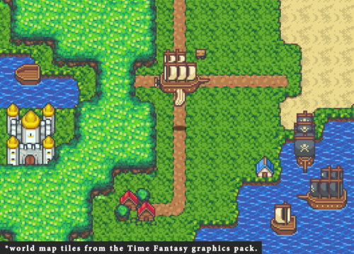Time Fantasy Ship Rpg Maker Create Your Own Game