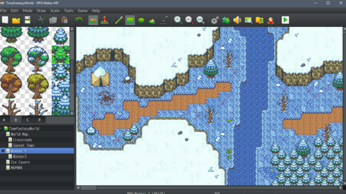 Time Fantasy: Winter Tiles| RPG Maker | Create Your Own Game!