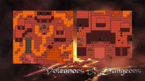 Dungeons Amp Volcanoes Tile Pack Create Your Own Game