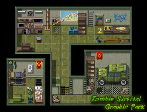 Zombie Survival Graphic Pack | Make A Game!