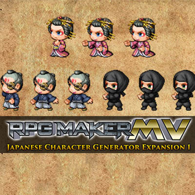 Japanese Character Generator Expansion 1| RPG Maker | Create Your