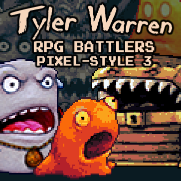 Tyler Warren RPG Battlers Pixel Style 3| RPG Maker | Create