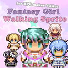 Fantasy Girl Walking Sprite