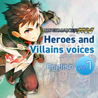 RPG Maker MV Heroes and Villains voices 【English】vol.1