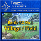 TOKIWA GRAPHICS Battle BG No.1 Village/Field