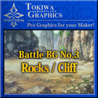 TOKIWA GRAPHICS Battle BG No.3 Rocks/Cliff