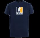 CS:GO - 三色ロゴ Tシャツ (Navy Blue) Sサイズ
