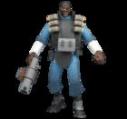 TF2 - BLU Demoman アクションフィギュア(アイテムコード付)