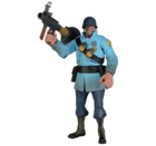TF2 - BLU Soldier アクションフィギュア(アイテムコード付)