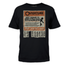 Portal - Aperture Test Subject Ad Tシャツ Mサイズ