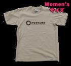 Women's M サイズ Portal - Aperture Tシャツ (Silver Grey)