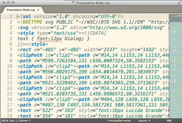Screenshot of Export to SVG