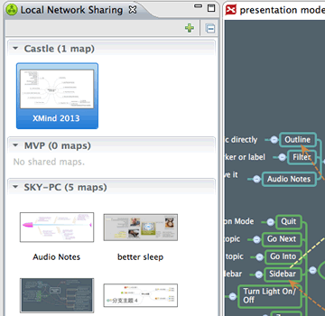 Screenshot of Local Network Sharing