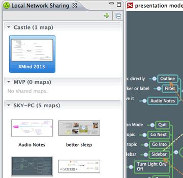 Screenshot of Local Network Sharing