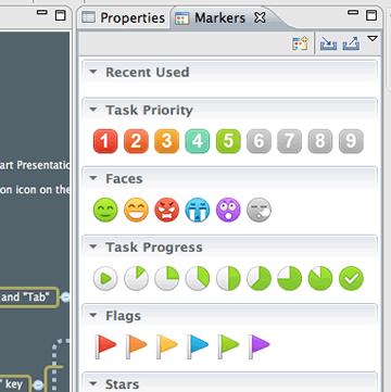Screenshot of New Markers